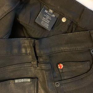 Hudson Black Jeans - Shiny - Sz 25